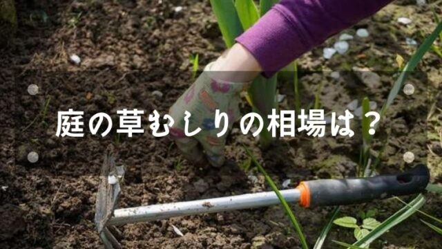 庭の草取りに掛かる費用の相場
